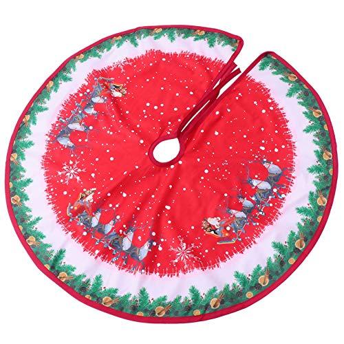 TOYANDONA 90Cm Runde Weihnachtsbaum Rock Tuch Weihnachtsbaum Boden Teppich Teppich Dekorative Rentierbaum Grundabdeckung Matte Urlaub Zuhause Innenbaum Bodendekoration