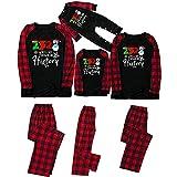 Pijamas de Navidad Familia 2021 Conjunto Pantalon y Top Pijamas Mujer Hombre Impresión a cuadros Inv...