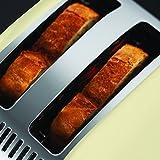 Russell Hobbs 23334-56 Toaster Colours Plus+ Classic Cream, Schnell-Toast-Technologie, Brötchenaufsatz, 1670 Watt, Creme - 4