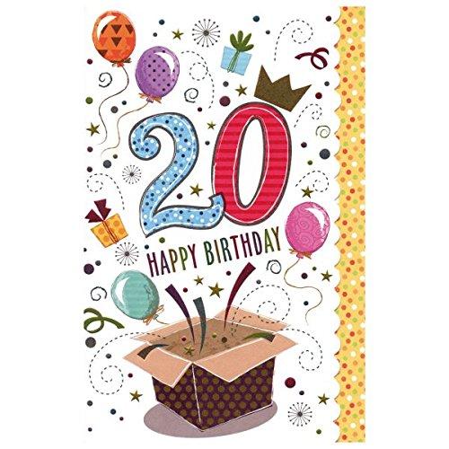 Susy Card 40009711 Geburtstagskarte, 20. Geburtstag