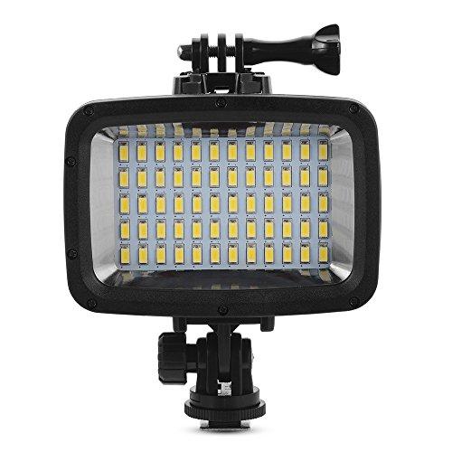 XCSOURCE? 60 LEDs Kamera licht, Unterwasser 40M Wasserdicht LED Tauchens Videoleuchte f¨¹r GoPro Xiaomi Yi SJCAM Action Cam & DSLR Kamera + 3stk Filter LD846