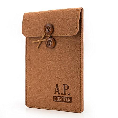 A.P. Donovan - Caso Laptop Sleeve - Filztasche sentiva copertura per Tablet Felt - Custodia in tessuto manica - IPAD PRO 9.7'marrone