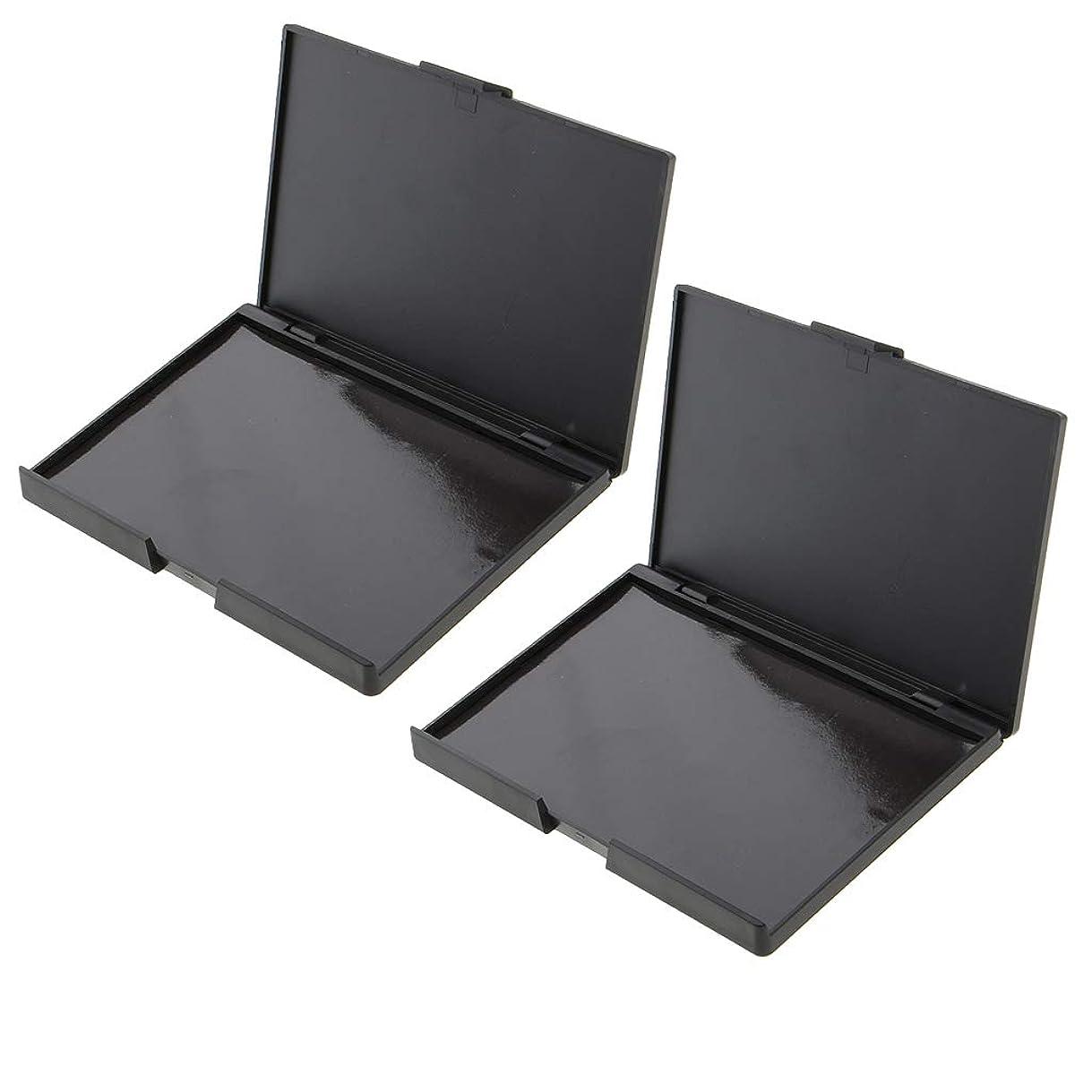 部拡大するボールIPOTCH 2個 アイシャドー メイクアップケース 磁気パレット ボックス