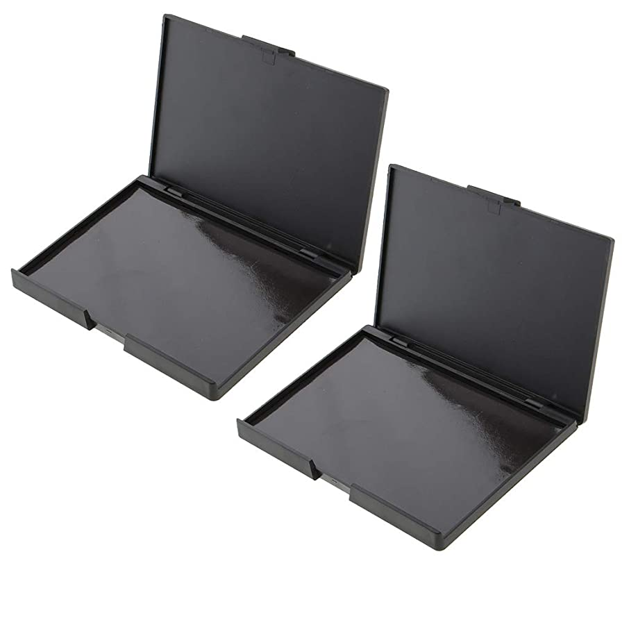 儀式デッキモッキンバードIPOTCH 2個 アイシャドー メイクアップケース 磁気パレット ボックス