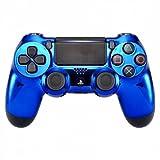 PS4 Custom UN-MODDED Controller Exclusive Unique Designs - Multiple Designs Available CUH-ZCT2U (Chrome Blue)