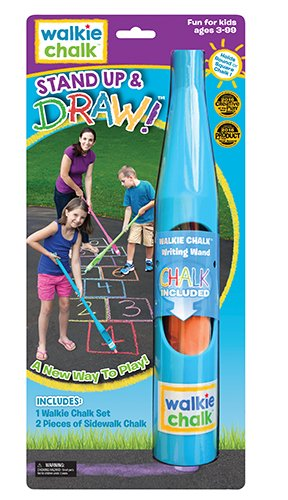 Walkie Chalk Stand-Up Sidewalk Chalk Holder - Teal - Creative Outdoor Toy for Kids and Adults!