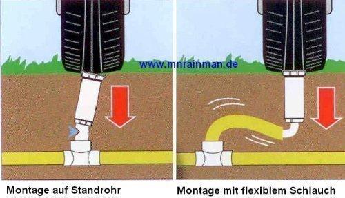 """5 Stück RAIN BIRD Regneranschlusssystem 30 cm flexibler Abzweigschlauch + 1/2 Winkel 1/2"""" Außengewinde x 1/2"""" Außengewinde"""