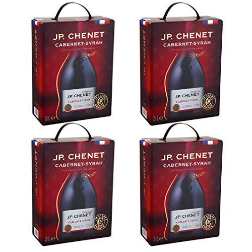 Bag-in-Box - IGP Oc Cabernet-Syrah - JP. Chenet - Frankreich - Languedoc-Roussillon - Rotwein, trocken, Box mit:4 Boxen