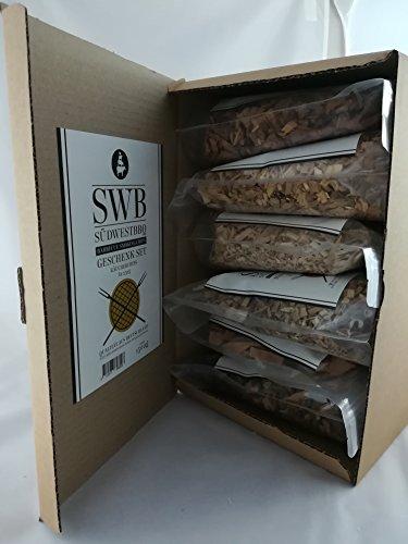 SWB Wood Smoking Chips/ Räucherchips Geschenkset 6 x 0,25kg (1,5kg) - Vorteilsgröße