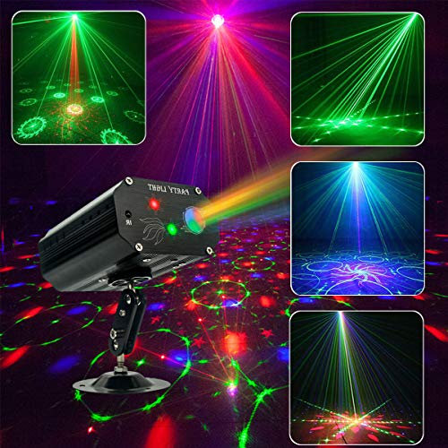 Party Lights DJ Disco Stage Lights Led Projector Karaoke Strobe Perform for Stage Lighting with Remote Control for KTV Parties Birthday Wedding Xmas Decorations lights
