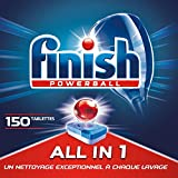 Finish Pastilles Lave-Vaisselle Powerball All in One Max - 150 Tablettes Lave-Vaisselle