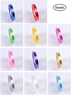 MUCHEN SHOP Cinta de Globos,33 Rollos Plastico Cintas Globo Colores PVC Cinta para Artesanía Decoración de Fiesta de Bodas de San Valentín 10 Metros