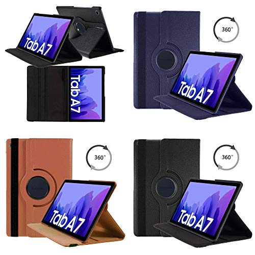 Case For Galaxy Tab A7 10.4 inch 2020 PU Leather 360 Degree Rotating Compatible With Galaxy Tab A7 10.4 inch Cover Case (Black)