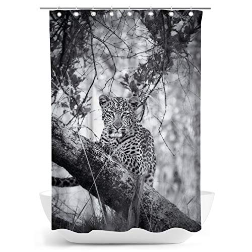 fotobar!style Duschvorhang 140 x 200 cm Leopard