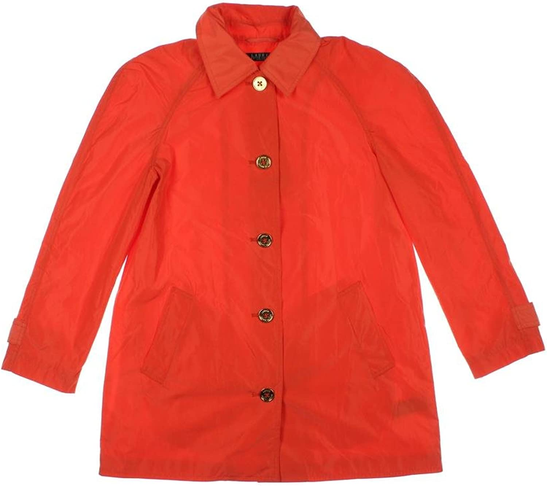 Lauren Ralph Lauren Womens Petites Moisture Wicking Basic Jacket orange PM