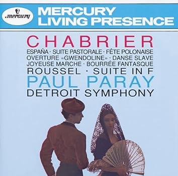 """Chabrier: España; Suite pastorale; Fete Polonaise; Overture """"Gwendoline""""; Danse Slave; Roussel: Suite in F"""