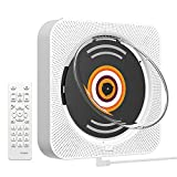 AONCO Portable CD Player, 2021 Upgraded Wall Mounted CD Player, Bluetooth Home Audio with Dust Cover / LED Screen with Remote FM Radio, Built-in High Hidelity Speaker, MP3 Headset Jack