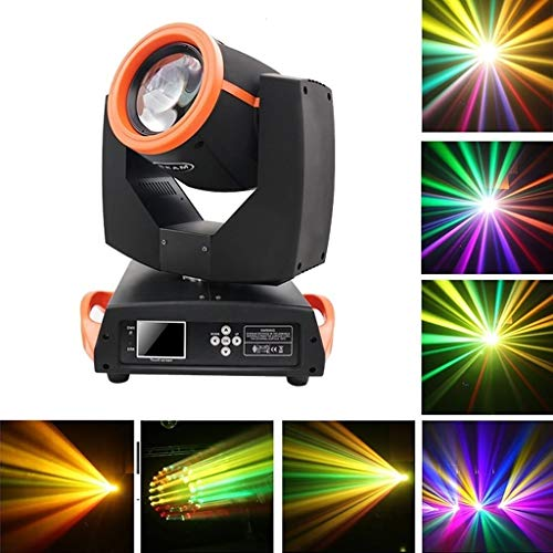 Party Lights, 24 Pattern Lens Move Beam Licht, 230W Spotlight, DMX + Touchscreen, Linear Dimming Disco Stage Dance Party Licht Crystal Ball Effekt, Fernbedienung for Home DJ Club Pool Pond