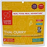 GOOD TO-GO Thai Curry - Double-Serving | Dehydrated Backpacking and Camping Food | Lightweight | Easy to Prepare