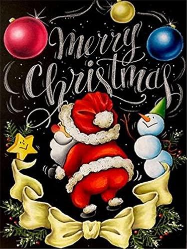 5D diamante bordado completo taladro Navidad pizarra dibujo diamante pintura dibujos animados DIY con cuentas decoración del hogar A10 60x75cm