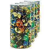 Luxury & Grace Pack 4 Botes de Polietileno Alimentario, 1,5 L (20x10cm). Tarros con Tapa Transparente de Polietileno. Reciclables. 100% Libres de BPA.
