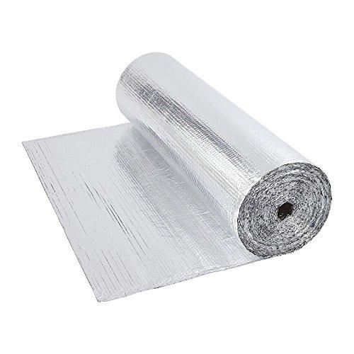 Biard - Rollo de Aislamiento Térmico Doble Lámina en Aluminio - Ideal para Suelos y Paredes - Rollo de 1.2 m x 40m - 200g por m2