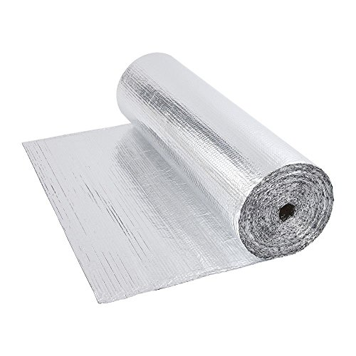 Papel de burbujas de aluminio, doble aislamiento, rollo de 1,2m x 40m, 48metros cuadrados–suelo Loft pared, 200g Per M2, 1.2m x 40m (48m2)