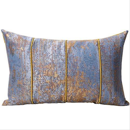 LLWYH Fundas para Cojines De Almohada Funda De Cojín Decorativa Jacquard para Sofá De Sala O Coche Dormitorio Azul 30x50 cm (Sin Núcleo)