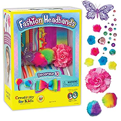 Creativity for Kids Fashion Headbands Craft Kit, Makes 10 Unique Hair Accessories