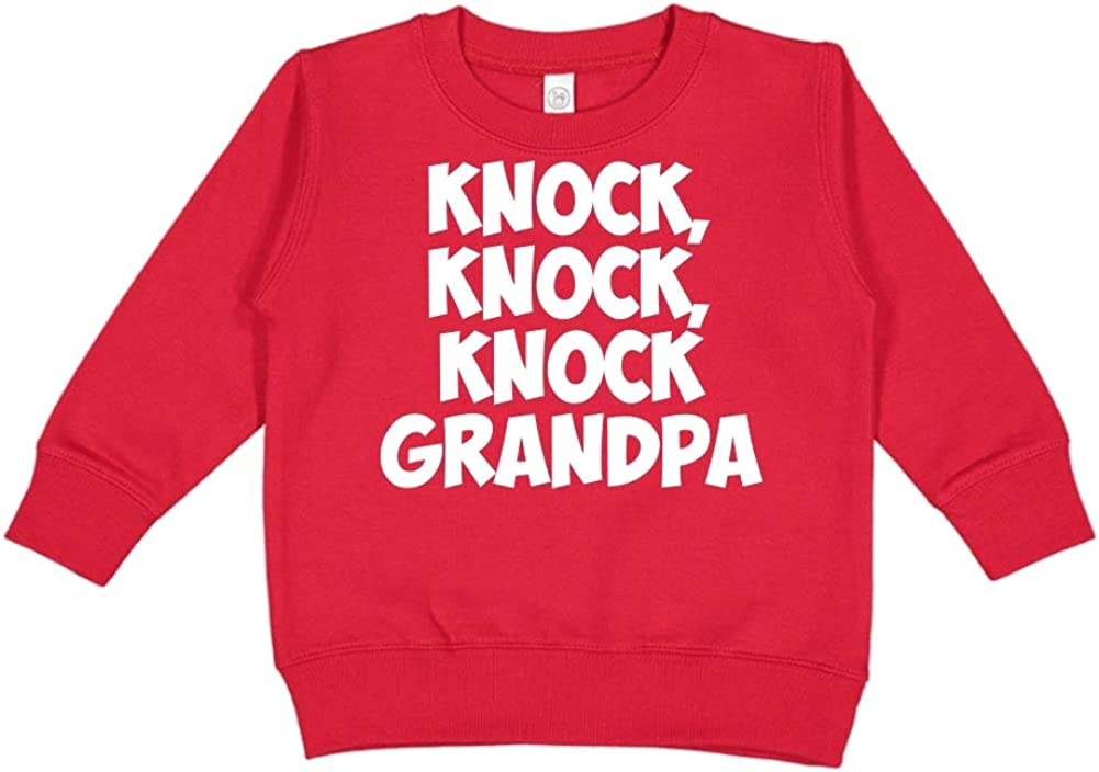 Toddler//Kids Sweatshirt Knock Knock Knock Grandpa