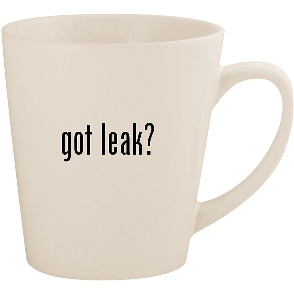 got leak? - White 12oz Ceramic Latte Mug Cup