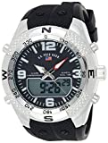 U.S. Polo Assn. Men's Analog-Quartz Watch with Rubber Strap, Black, 26 (Model: US9662)