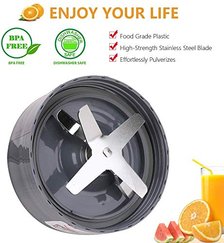Bidihome Blender Extractor Blade Cross Blade Replacement Parts Compatible with Nutribullet 600W and Pro 900W Series (2 Pack)