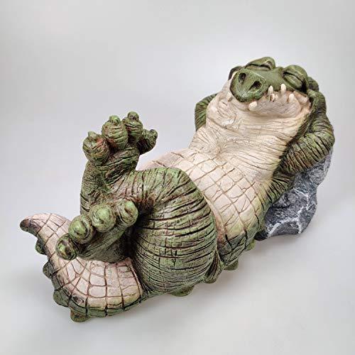 Large Alligator Crocodile Statue Indoor Outdoor Garden Decor Sculpture
