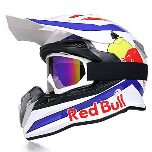 Casco integral Cascos de Motocross Four Seasons bicicleta de montaña carreras cuesta...