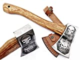 DIST-AX-264, Custom Handmade Stainless Steel Axe-Gorgeous and Solid Wood Handle