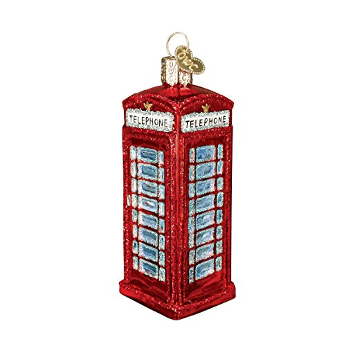 Old World Christmas Cities, Places and Landmarks Glass Blown Ornaments for Christmas Tree English Phonebooth