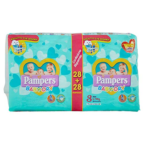 Pampers Baby Dry Midi Pd, 56 Pezzi