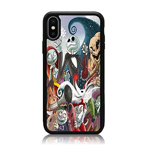 iPhone Xs Max Case, [Nightmare Before Christmas Series] Print Soft TPU & Hard Back Shock Absorption Scratch Proof Slim Protective Case Cover for iPhone Xs Max 6.5 Inch 2018 Release