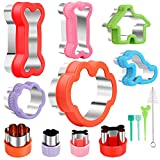 Dog Cookie Cutters,Dog Bone Cookie Cutter Set,Including Dog Bone, Paw Print ect. Stainless Steel Cookie Cutter molds for Kids Suitable for Sandwiches,Mini Pie, Fruit and Cookies