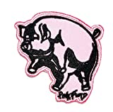Pink Pig sow hog Swine Boar Livestock Farm Animal Embroidery Patch Stickers Cartoon Kid Baby Girl Jacket T-Shirt Patch Sew Iron on Embroidered Sign Badge Costume Clothing (06)