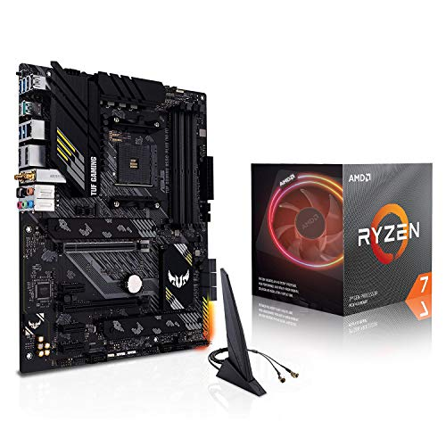 Micro Center AMD Ryzen 7 3700X Desktop Processor 8-Core Up to 4.4GHz Unlocked with Wraith Prism LED Cooler Bundle with ASUS TUF Gaming B550-PLUS WiFi AMD AM4 Zen 3 Ryzen 5000 ATX Motherboard