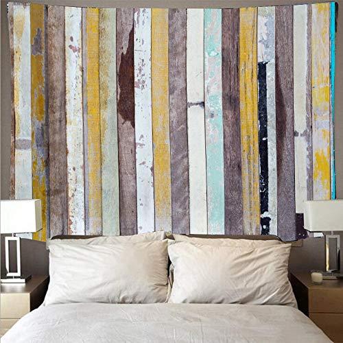 Tapiz de tablón de madera de color retro arte psicodélico colgante de pared toalla de playa decoración de la pared del hogar tapiz de tela de fondo A1 180x230cm