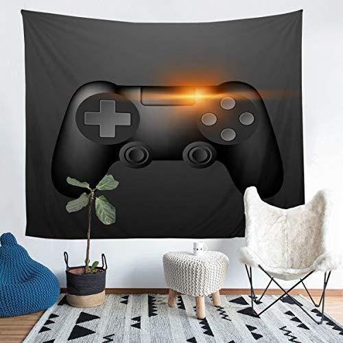 Tbrand Tapiz de pared para niños y niños, juego de videojuego para colgar en la pared, resistente a las manchas, controlador de juego moderno, decoración de la habitación, tamaño grande de 152 x 201
