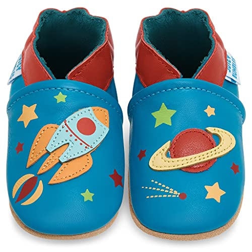 Baby Shoes Soft Sole - Pre Walker Shoes - Baby Walking Shoes - Spaceship 6-12 Months