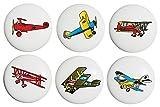 Vintage Airplane Drawer Pulls Ceramic Cabinet Handle Knobs Boys Room Decor Set of 6