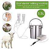 Whewer Goat Milking Machine Adjustable Suction Household Milker 5.5L Stainless Steel Vacuum Pump Cow Milking Device Milker Buckle