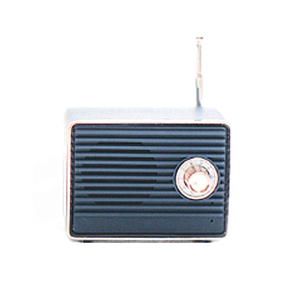Local Makes A Comeback - 复古蓝牙扬声器,无线智能收音机,低音,音频卡,迷你创意礼物,深蓝色
