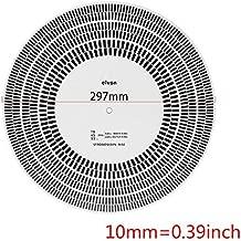 Gavita-Star - LP Vinyl Record Turntable Phono Tachometer Calibration Strobe Disc Stroboscope Mat 33 45 78 RPM
