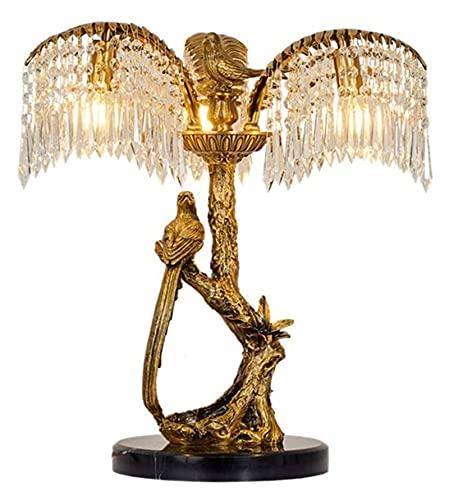 Rnwen Todas las lámparas de mesa de cobre, lámparas de mesa creativas, todas las lámparas de mesa de cobre en la sala de estar, lámparas de mesa decorativas para el dormitorio, lámparas decorativas Rn